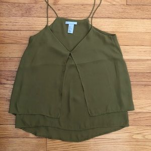 Olive green tank blouse